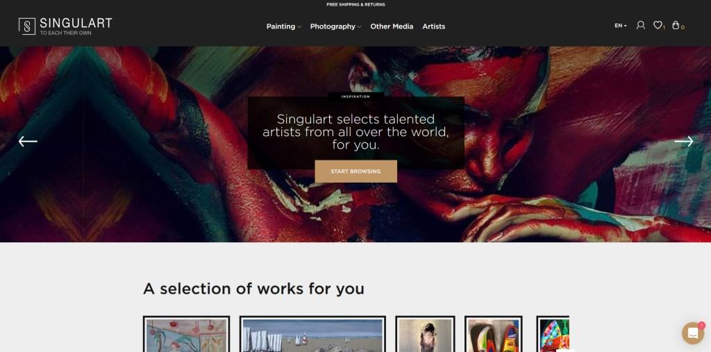 Singulart - Online Art Gallery - Screen