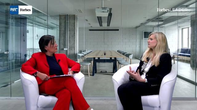 Glenda Cinquegrana e Beatrice Trussardi durante la puntata 39 della trasmissione Forbes Leader