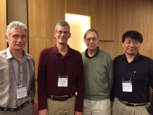 Photo: GLEON founders Hamilton, Kratz, Arzberger and Lin. Credit: L.Borre