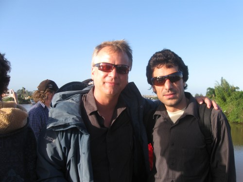 Photo: Sami Khan with Paul Hanson at GLEON 10 meeting. Credit: courtesy of Sami Khan.