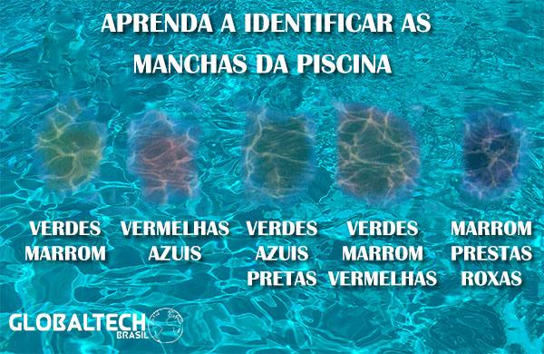 Aprenda a identificar as manchas da piscina