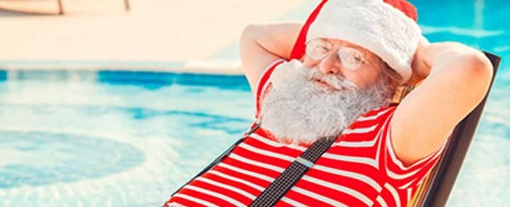 Como fazer uma festa de Natal na piscina