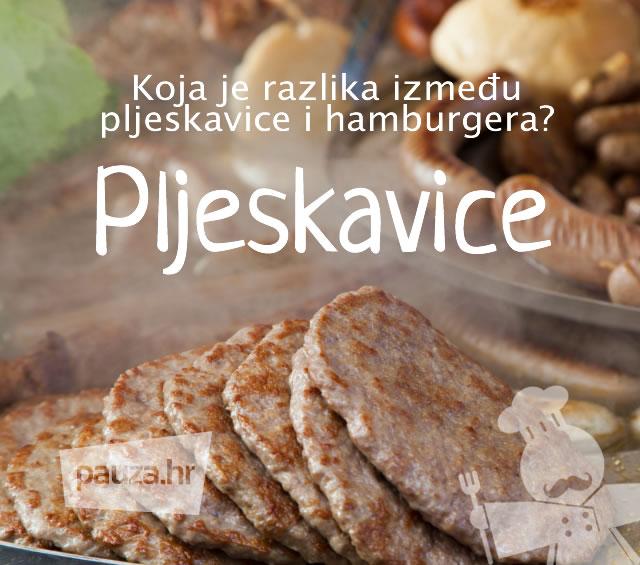 Koja je razlika između pljeskavice i hamburgera?