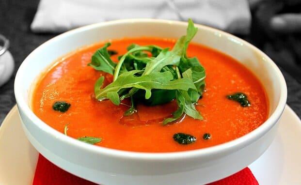 receta del gazpacho con Thermomix