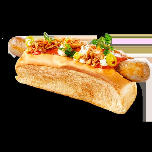 Hot Dog de vaca vieja del menú Sr. Brasas de la Gran Familia Mediterránea by Dani García