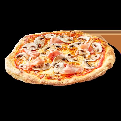 Pizza caprichosa con doble de champiñones como le gusta a Dani García y a su familia mediterránea