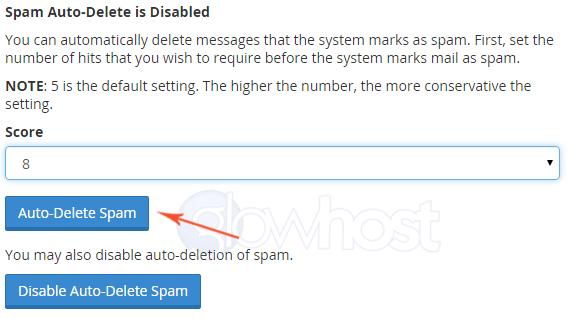 SpamAssassin auto-delete function