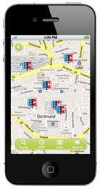 GLS Bank mobil - Online Banking mit der GLS iPhone App - Geldautomatensuche