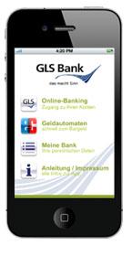 GLS Bank mobil - die iPhone-App für mobiles Online-Banking - Startseite