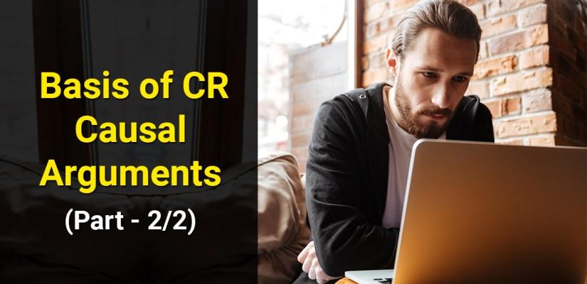 Critical Reasoning CR GMAT - Basis of Causal Arguments