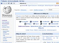 Wikipedia - Startseite (Ausschnitt)