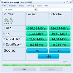 AS SSD Benchmark nach dem Firmwareupdate