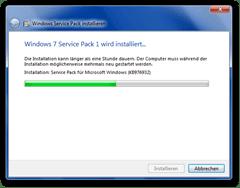 Dialog von der Installation eines Servicepacks unter Windows 7 - Quelle: http://de.wikipedia.org/wiki/Datei:Windows7sp1.png