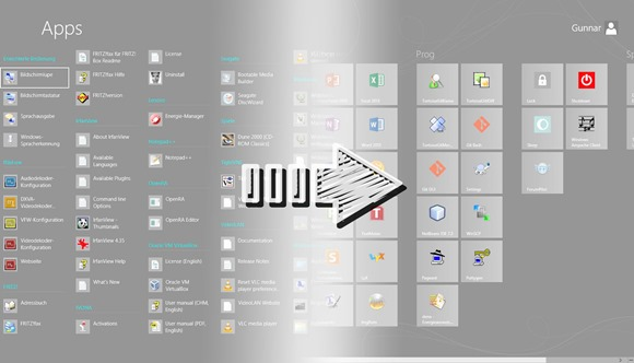 Windows 8 Startbildschirm/Startmenü sortieren 4