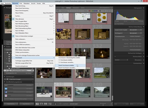 Lightroom 5 – Smart Previews nachträglich rendern 2
