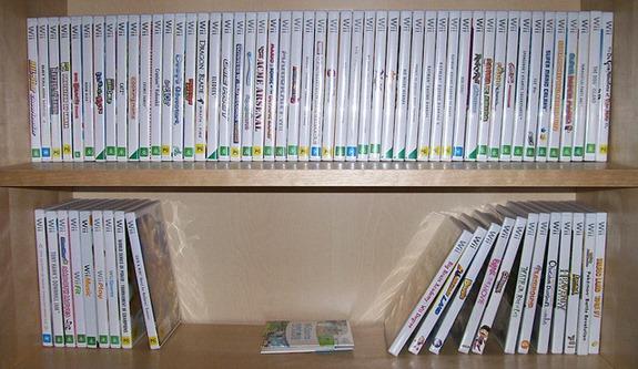 Beispiel einer Wii Sammlung // Bild von Andrew Parsons@Flickr