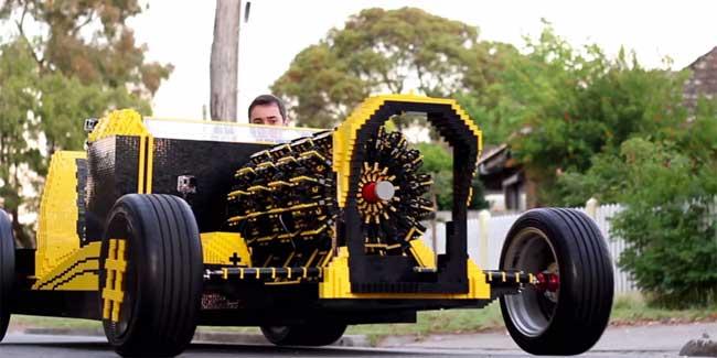 500,000 Piece LEGO Car