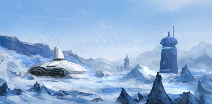 Planet Hoth from Star Wars