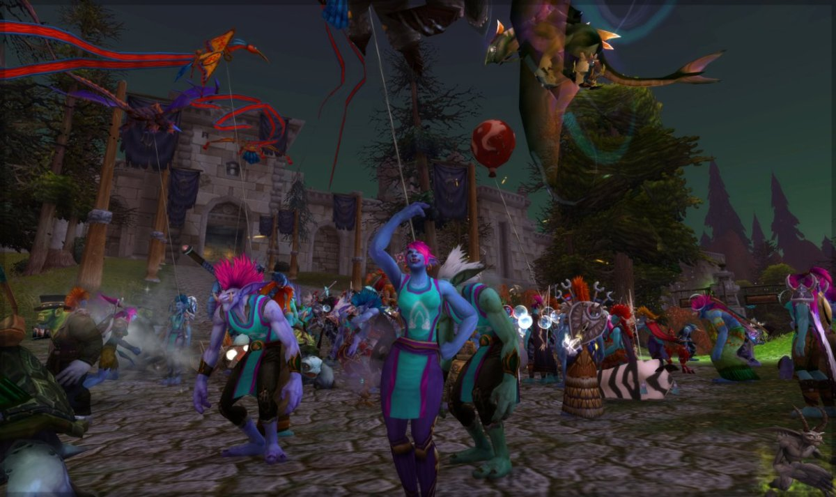 Trolls marching for The Trevor Project