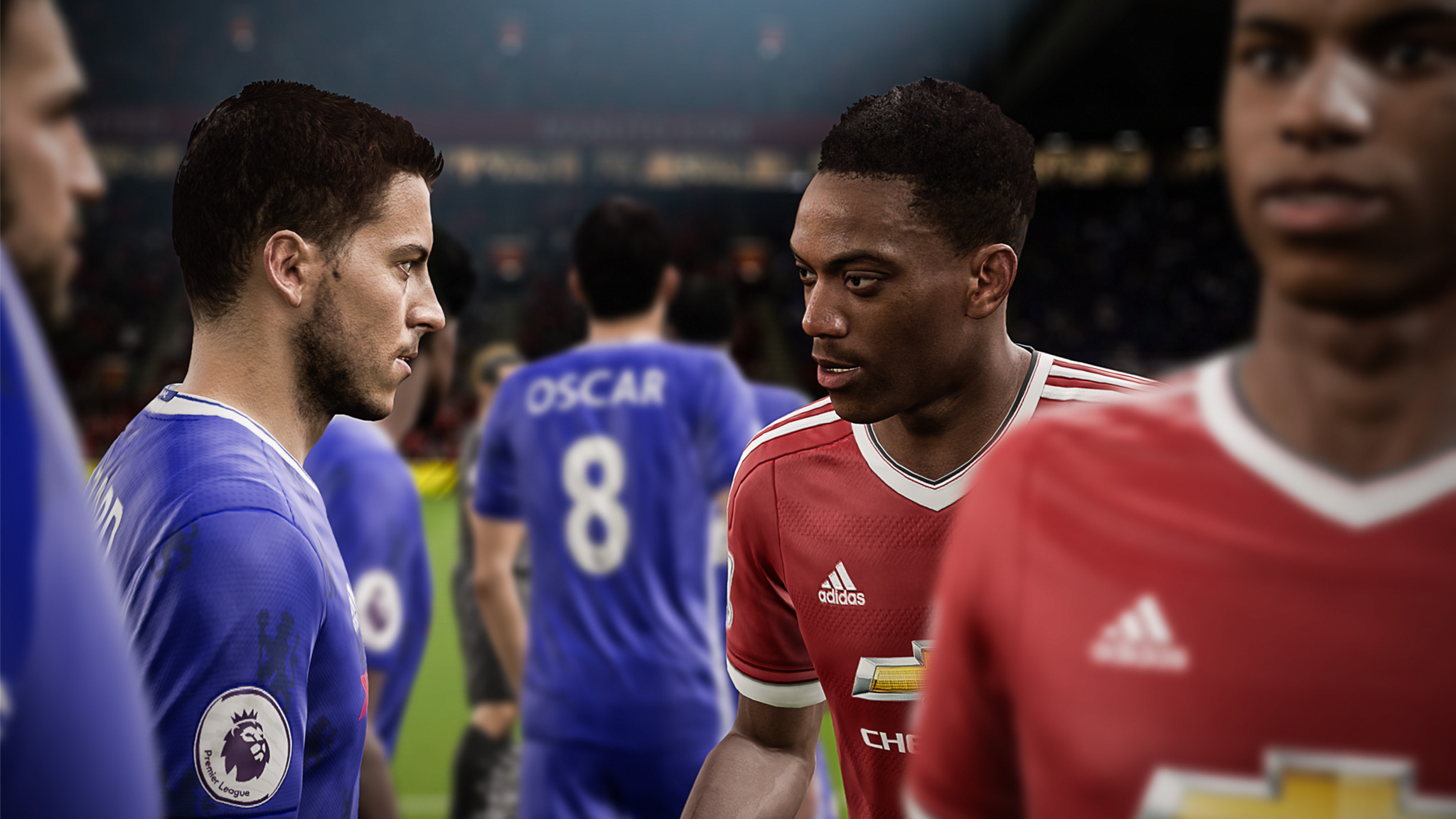 New FIFA ambassador's Anthony Martial and Eden Hazard meet on the pitch
