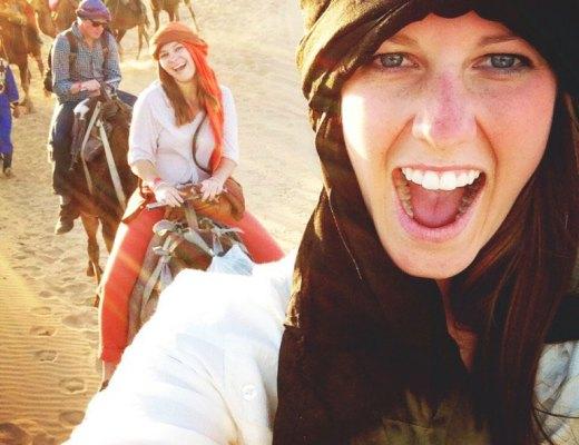 Kathryn at the Sahara Desert
