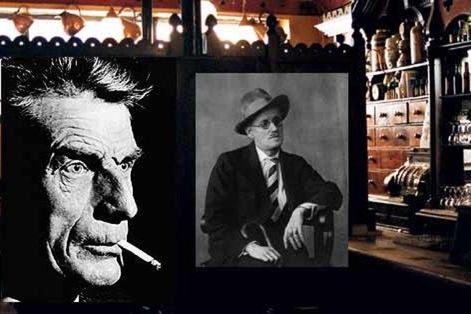 Pictures in a Dublin pub of Irish authors.