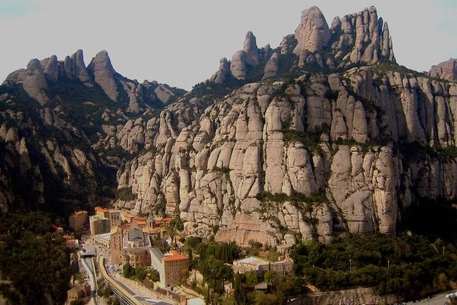 A hiking tour in the scenic mountain ranges near Montserrat.