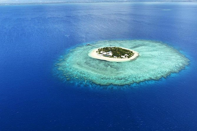 Aerial view of an island in Fiji
