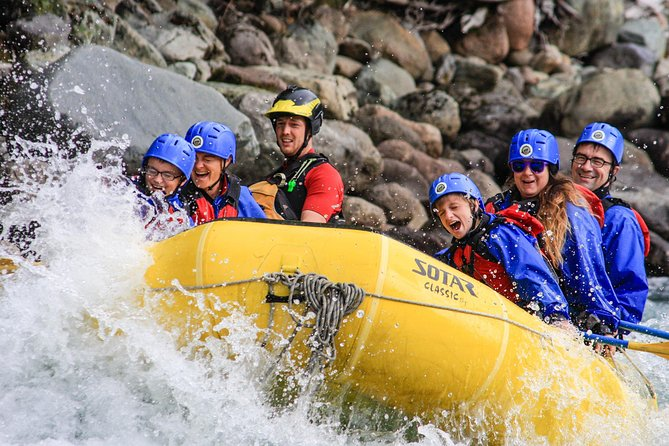 A family on a rafting tour near Vancouver