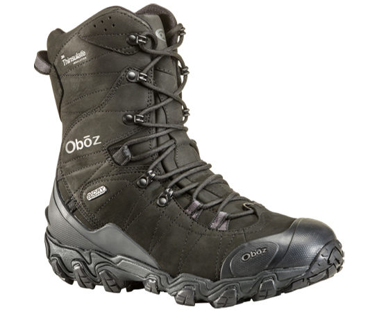 "Oboz Bridger 10"" Insulated winter hiking boot."