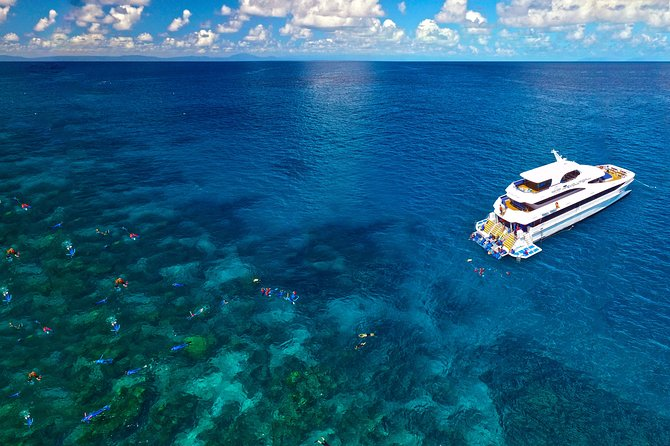 Diving yacht at the Great Barrier Reef
