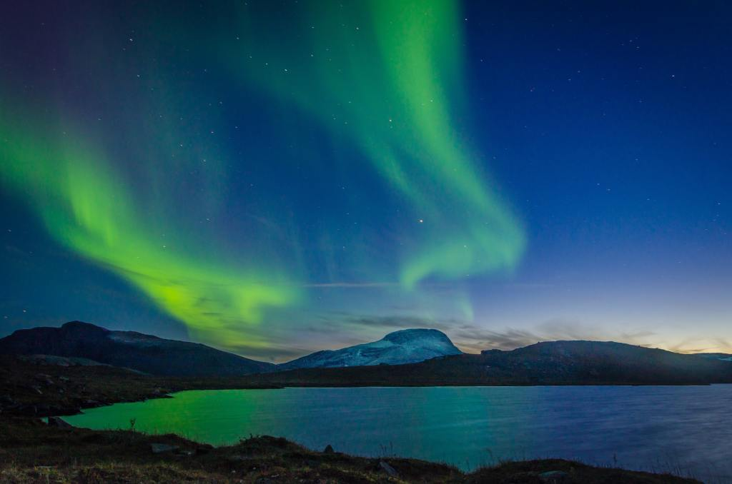 The northern lights in Sweden. Sweden is one of the top sustainable travel destinations in 2021.