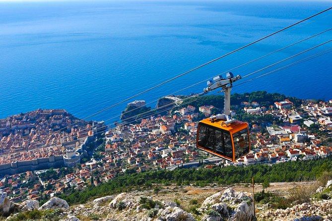 A cable car above Dubrovnik, Croatia.