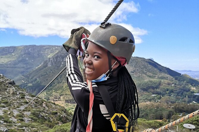 Child zip lining in Cape Town