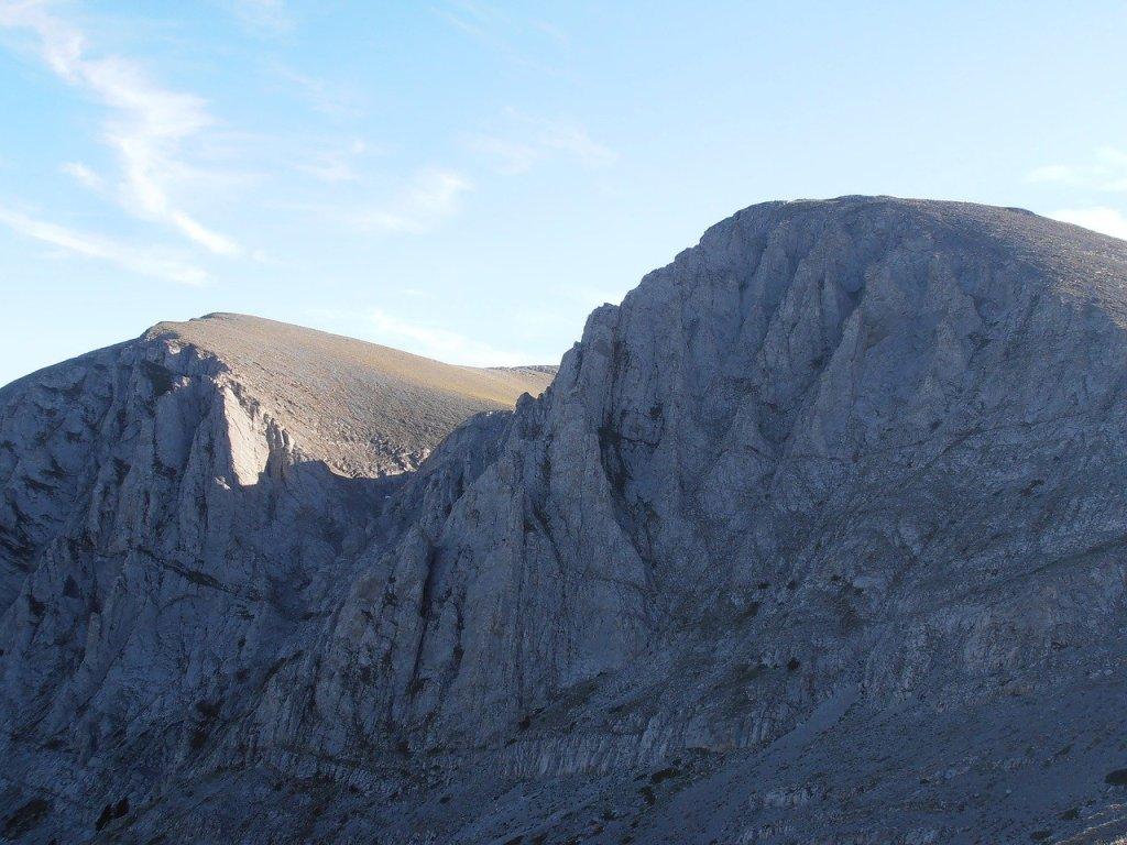 Rock cliffs on Mount Olympus