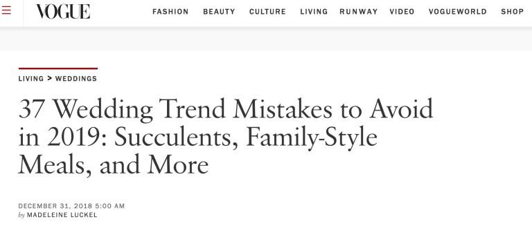 vogue wedding trends