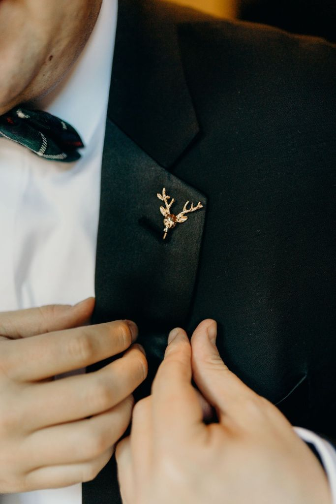 stag pin for groom