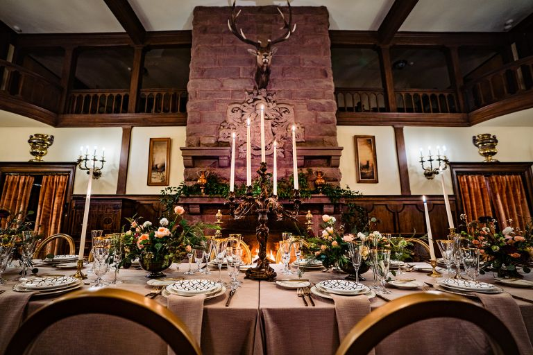 The Redstone Castle wedding dinner