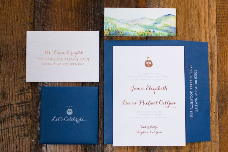 cable car wedding invitation