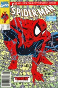 Spider-Man-1-UPC-1-197x300 Ten Key Newsstand Variants from the 1990s Comic Boom