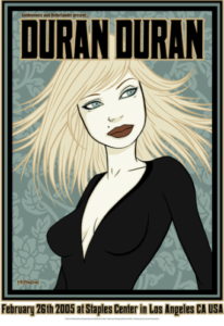Duran-Duran-206x300 Fine Art, Illustration, and Bunny Ears: Tara McPherson's Poster Art