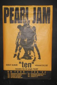 Pearl-Jam-1992-UK-Tour-203x300 Picking Your Pearl Jam Concert Posters
