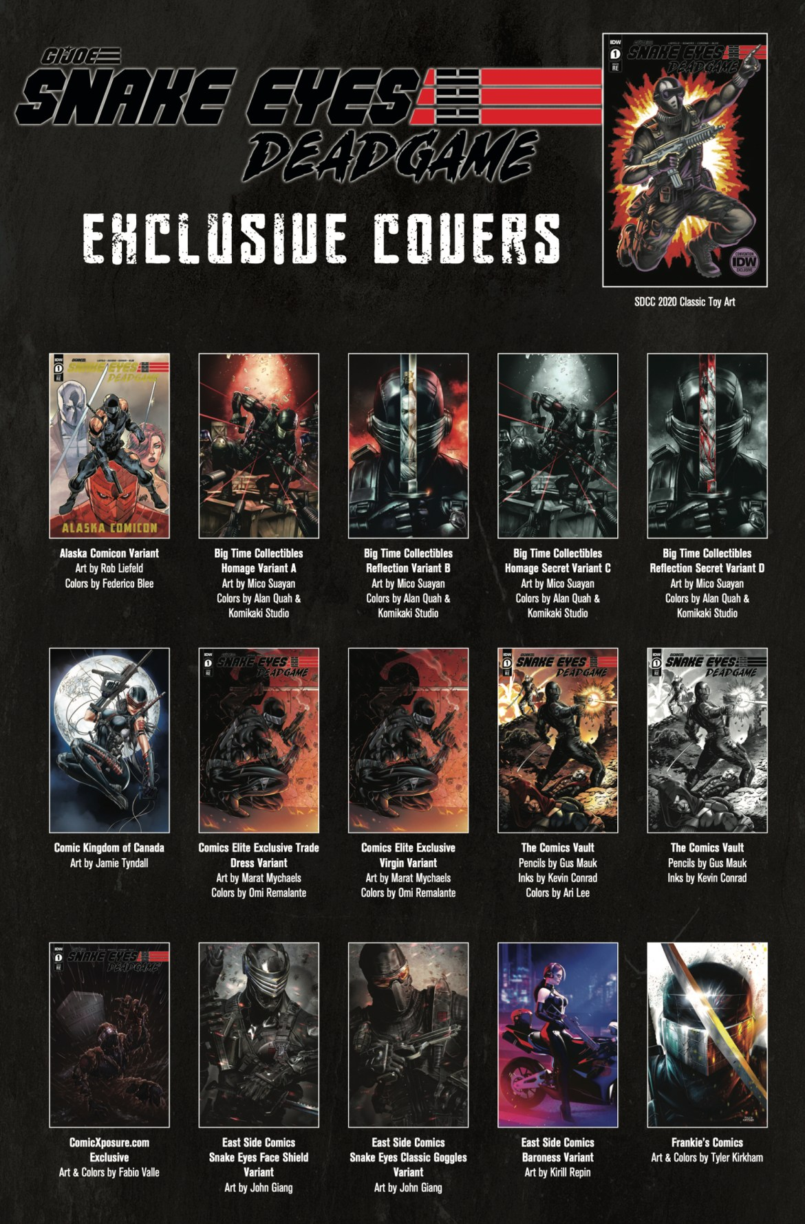 05a6e8ce-f19c-4963-aa5a-7ef425a805dc IDW's SNAKE EYES: DEADGAME will feature 36 exclusive covers