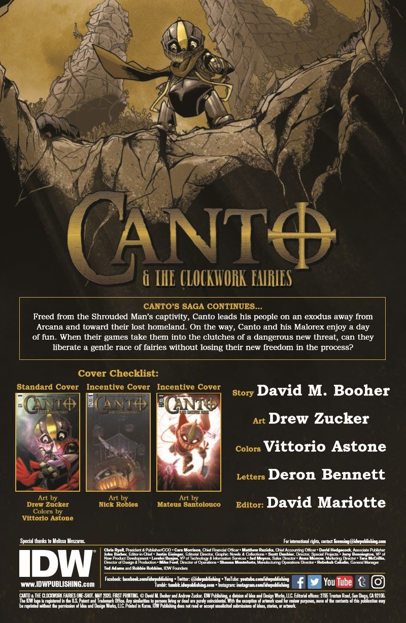 Canto-CWF_pr-2 ComicList Previews: CANTO AND THE CLOCKWORK FAIRIES #1
