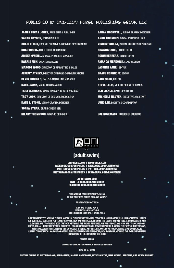 RICKMORTY-V11-TPB-REFERENCE-005 ComicList Previews: RICK AND MORTY VOLUME 11 TP