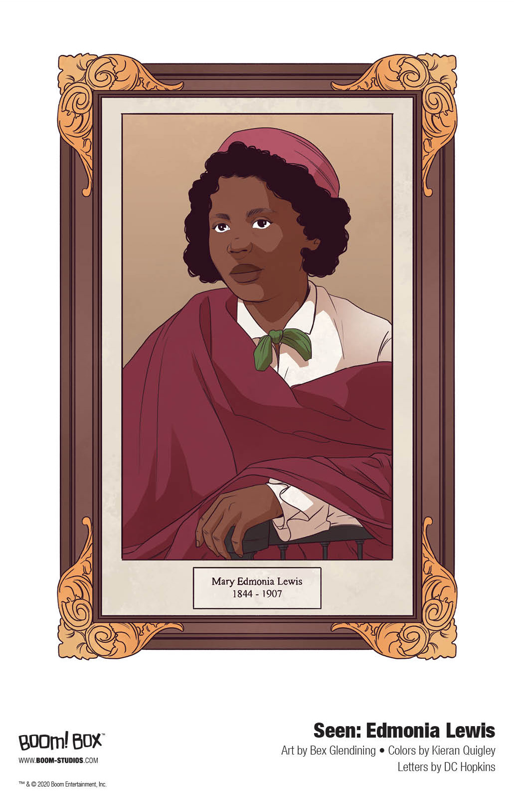 Seen_EdmoniaLewis_Interiors_001_PROMO Discover the spectacular story of sculptor Edmonia Lewis in BOOM! Studios' SEEN