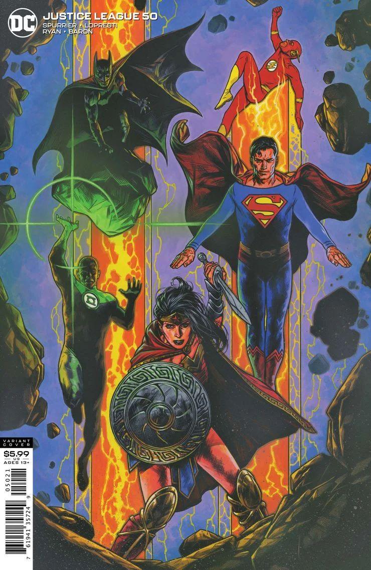 JUSTL-Cv50-var ComicList Previews: JUSTICE LEAGUE #50