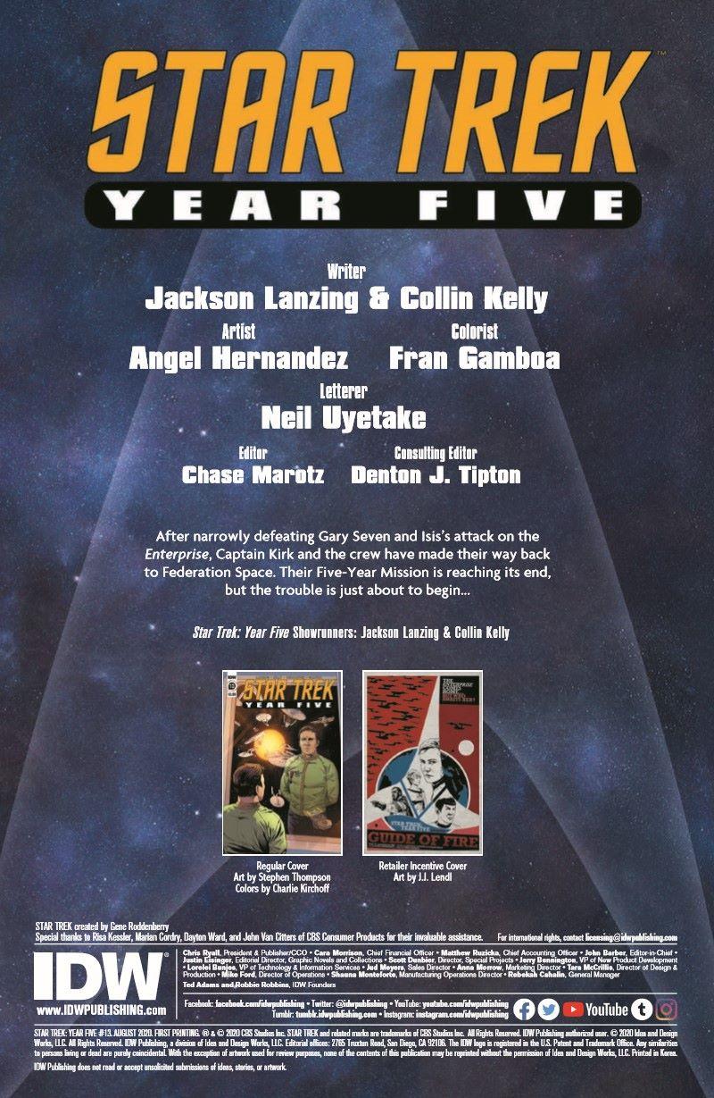 ST_YearFive13-pr-2 ComicList Previews: STAR TREK YEAR FIVE #13