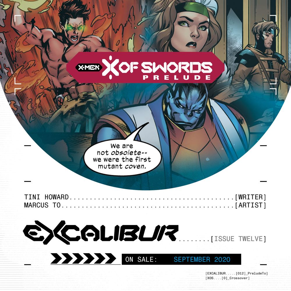 XOS_PROMO_EXCAL_12 The path to X OF SWORDS goes through EXCALIBUR #12