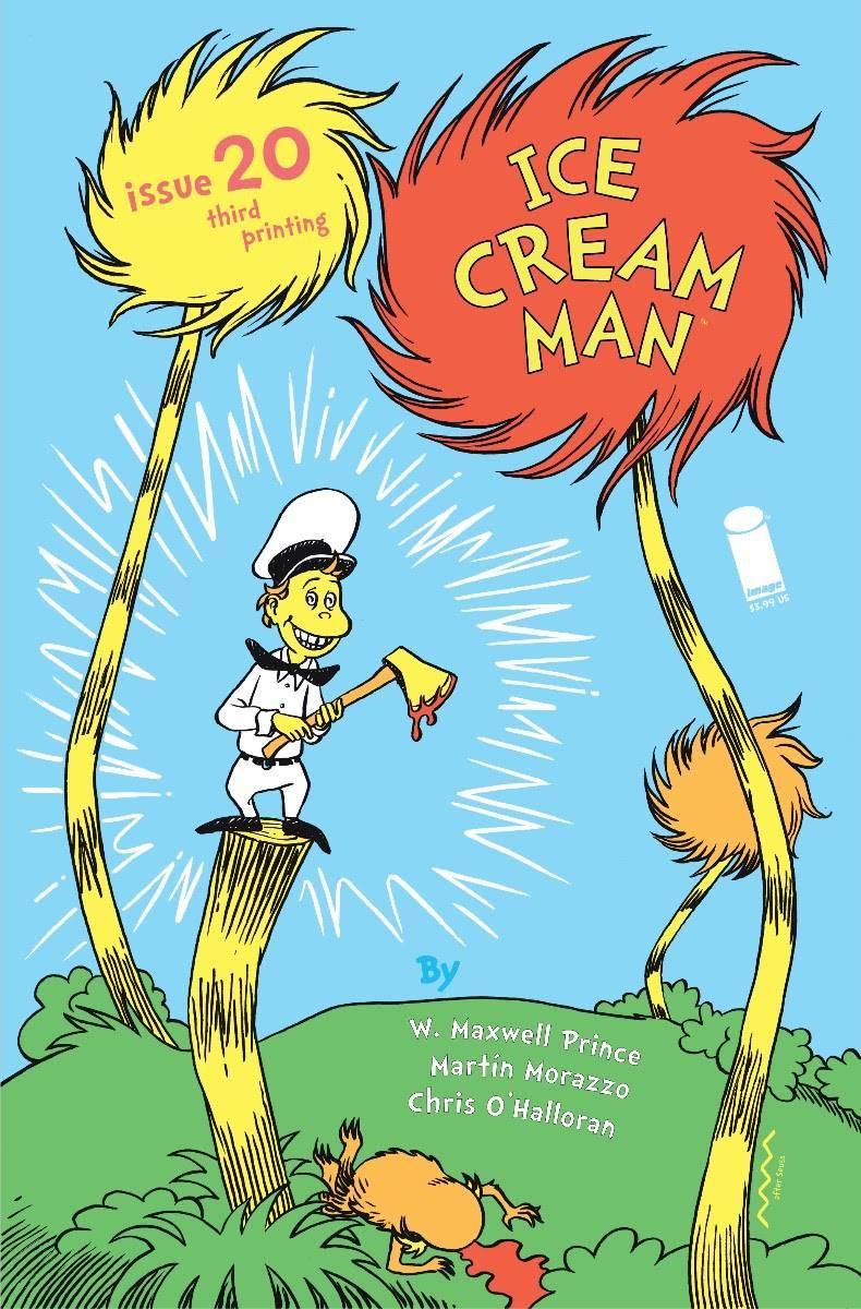 STL171712 ICE CREAM MAN battles the Lorax on his third printing cover
